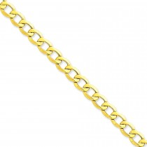 14k Yellow Gold 7 inch 8.00 mm Light Curb Chain Bracelet