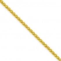 14k Yellow Gold 16 inch 1.45 mm Light Wheat Choker Necklace