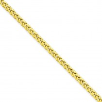 14k Yellow Gold 16 inch 2.60 mm Light Wheat Choker Necklace