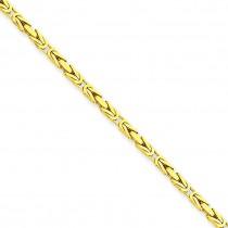 14k Yellow Gold 16 inch 2.00 mm Byzantine Choker Necklace