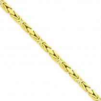 14k Yellow Gold 7 inch 2.50 mm Byzantine Chain Bracelet