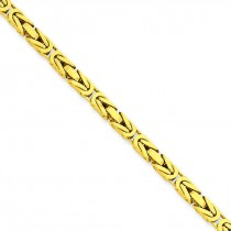 14k Yellow Gold 7 inch 3.25 mm Byzantine Chain Bracelet
