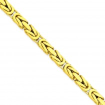 14k Yellow Gold 8 inch 5.25 mm Byzantine Chain Bracelet