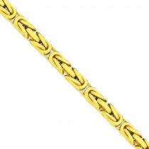 14k Yellow Gold 8 inch 6.50 mm Byzantine Chain Bracelet