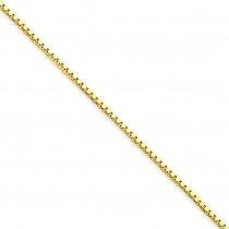 14k Yellow Gold 7 inch 1.10 mm  Box Chain Bracelet