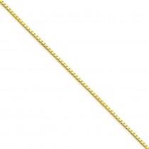 14k Yellow Gold 7 inch 1.25 mm  Box Chain Bracelet