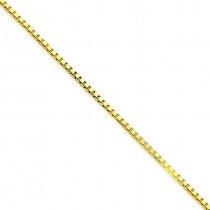 14k Yellow Gold 7 inch 1.50 mm  Box Chain Bracelet