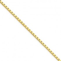 14k Yellow Gold 7 inch 1.90 mm  Box Chain Bracelet