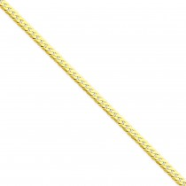 14k Yellow Gold 7 inch 4.20 mm Flat Beveled Curb Chain Bracelet