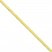 14k Yellow Gold 7 inch 4.60 mm Flat Beveled Curb Chain Bracelet