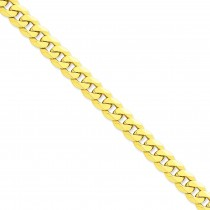 14k Yellow Gold 8 inch 10.00 mm Flat Beveled Curb Chain Bracelet