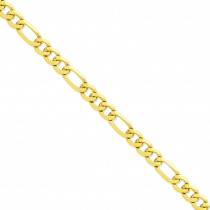 14k Yellow Gold 8 inch 10.00 mm Flat Figaro Chain Bracelet