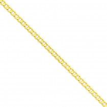 14k Yellow Gold 7 inch 6.75 mm Open Concave Curb Chain Bracelet