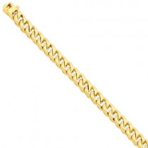 14k Yellow Gold 8 inch 9.00 mm Hand-polished Link Chain Bracelet