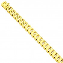 14k Yellow Gold 8 inch 14.00 mm Hand-polished Link Chain Bracelet