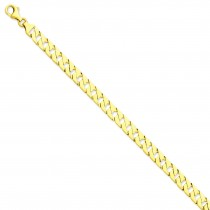 14k Yellow Gold 8 inch 7.00 mm Hand-polished Link Chain Bracelet