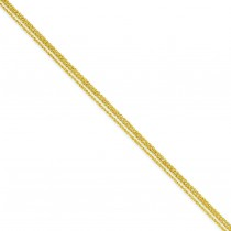 14k Yellow Gold 16 inch 2.25 mm Multi-Strand Ropa Choker Necklace