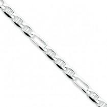 Sterling Silver 7 inch 4.50 mm Figaro Chain Bracelet