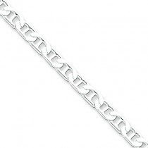 Sterling Silver 7 inch 4.50 mm  Anchor Chain Bracelet