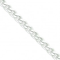 Sterling Silver 8 inch 10.50 mm  Anchor Chain Bracelet