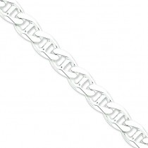 Sterling Silver 8 inch 13.50 mm  Anchor Chain Bracelet