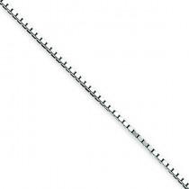 Sterling Silver 7 inch 1.10 mm  Box Chain Bracelet