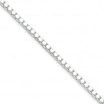Sterling Silver 7 inch 1.50 mm  Box Chain Bracelet