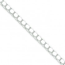 Sterling Silver 16 inch 3.25 mm  Box Choker Necklace