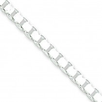 Sterling Silver 16 inch 4.50 mm  Box Choker Necklace