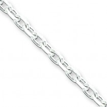 Sterling Silver 7 inch 3.25 mm Cable Chain Bracelet