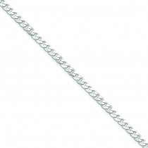 Sterling Silver 7 inch 4.50 mm  Curb Chain Bracelet