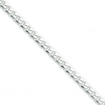 Sterling Silver 7 inch 6.00 mm  Curb Chain Bracelet
