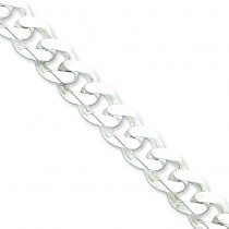 Sterling Silver 8 inch 11.00 mm  Curb Chain Bracelet
