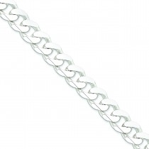 Sterling Silver 8 inch 15.00 mm  Curb Chain Bracelet