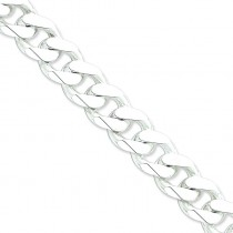 Sterling Silver 8 inch 16.25 mm  Curb Chain Bracelet