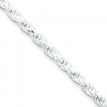Sterling Silver 7 inch 2.25 mm Diamond-cut Rope Chain Bracelet
