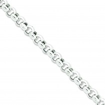 Sterling Silver 7.50 inch 9.50 mm  Rolo Chain Bracelet