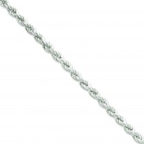 Sterling Silver 8 inch 5.30 mm Hollow Rope Chain Bracelet