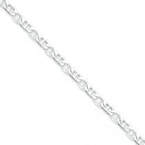 Sterling Silver 7 inch 6.00 mm Anchor Chain Bracelet