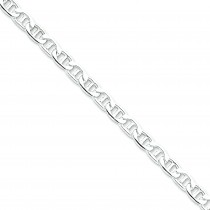Sterling Silver 7 inch 7.00 mm Anchor Chain Bracelet