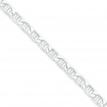 Sterling Silver 8 inch 8.50 mm Anchor Chain Bracelet