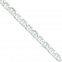 Sterling Silver 8 inch 9.75 mm Anchor Chain Bracelet