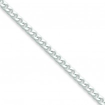 Sterling Silver 8 inch 3.20 mm  Curb Chain Bracelet