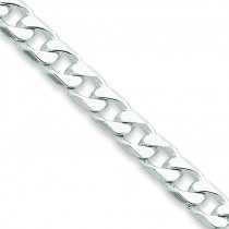 Sterling Silver 7 inch 6.50 mm  Curb Chain Bracelet