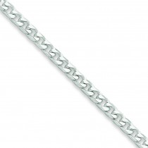 Sterling Silver 7 inch 3.70 mm  Curb Chain Bracelet