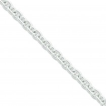 Sterling Silver 16 inch 8.80 mm  Cable Choker Necklace