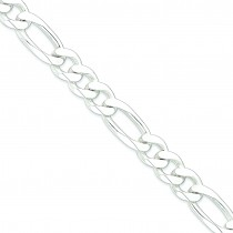 Sterling Silver 8 inch 15.00 mm  Figaro Chain Bracelet