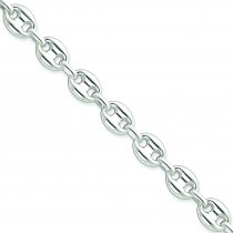 Sterling Silver 20 inch 11.75 mm Fancy Link Chain Necklace