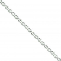 Sterling Silver 20 inch 3.25 mm Fancy Link Chain Necklace
