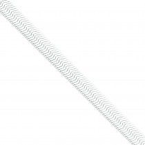 Sterling Silver 7 inch 8.75 mm Magic Herringbone Chain Bracelet